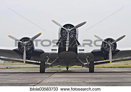 "Stock Photo of ""Junkers JU 52, a historic three."