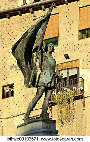 """Stock Photography of """"Bronze statue, Juan Bravo, national hero."""