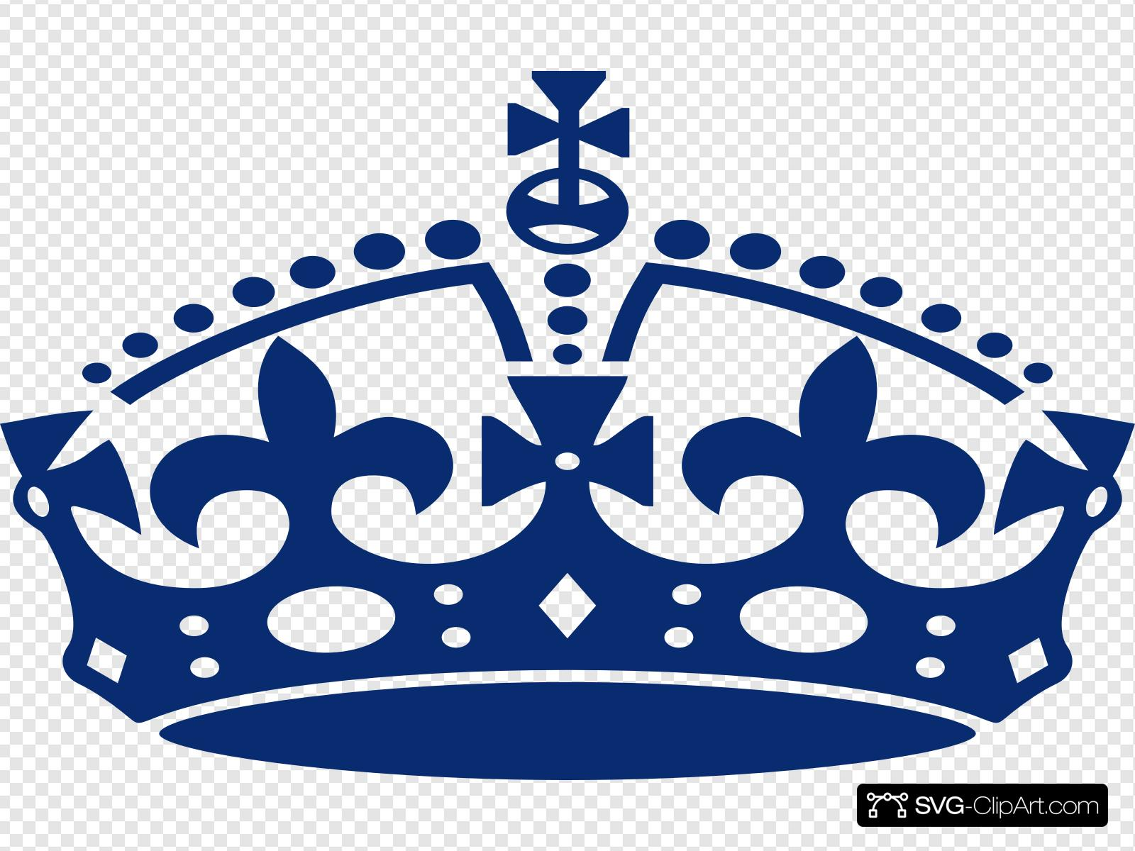 Blue Jubilee Crown Clip art, Icon and SVG.