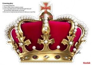 Queen\'s Diamond Jubilee crown craft, by Kodak.