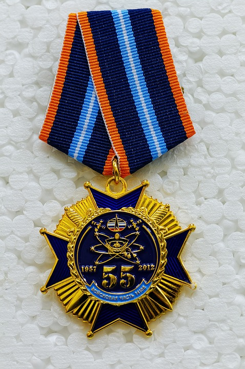 Free photo Commemorative Medal Space Forces Medal Jubilee Medal.