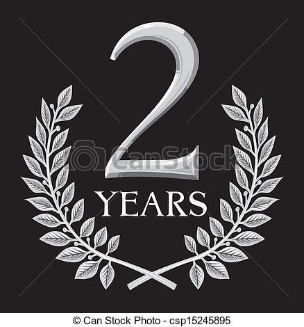 2 Year Anniversary Clipart.