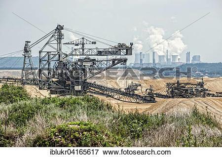 Picture of Lignite excavator, opencast lignite mining, RWE.