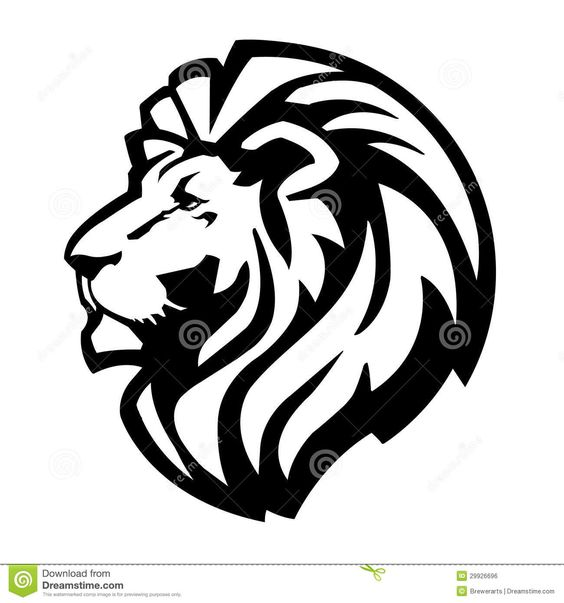 black and white lion of judah clip art.