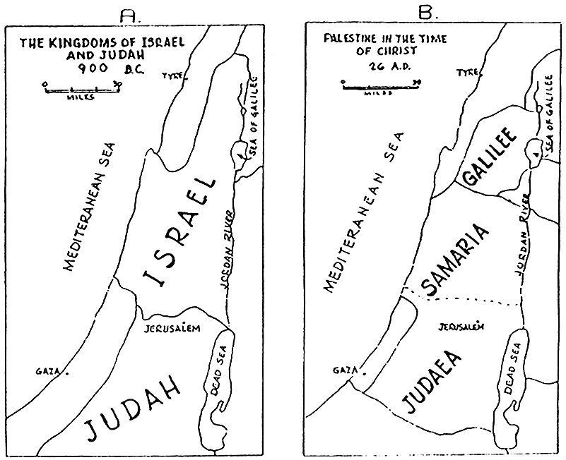 Judea And Samaria Map Clipart.