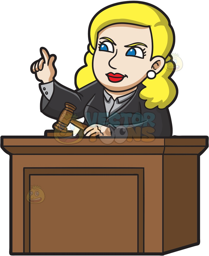Clipart judge court.