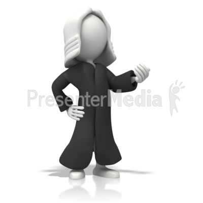 Judge In Robe Clipart.