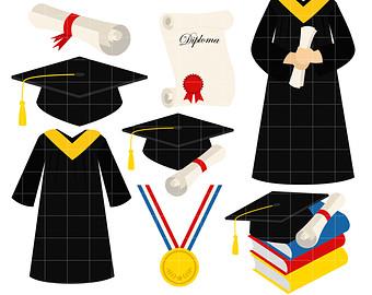 Graduation robe clipart.