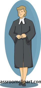 Judge In Robe Clipart.