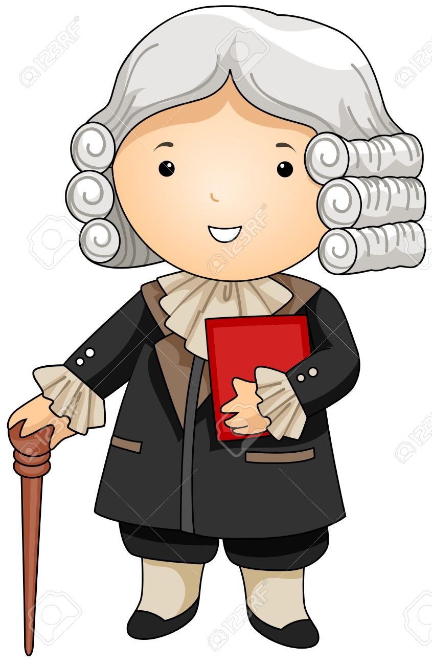 Judge Wig Clipart.