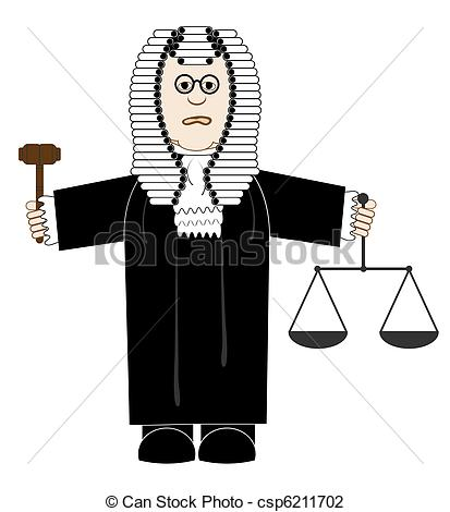 Vector Illustration of Judge.