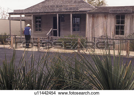 Stock Photo of saloon, Judge Roy Bean, TX, Texas, Langtry, The.