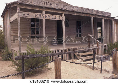 Stock Photography of saloon, Judge Roy Bean, TX, Texas, Langtry.