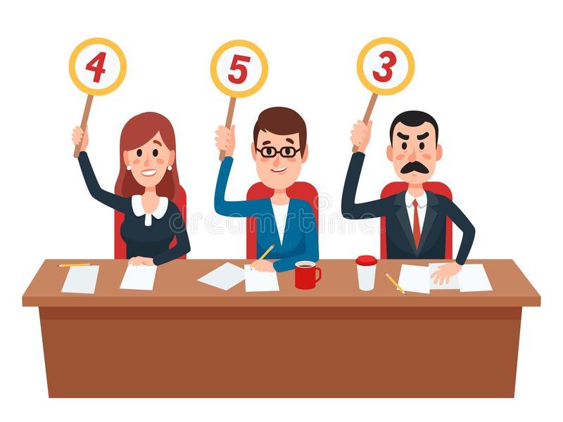 Judges Stock Illustrations.