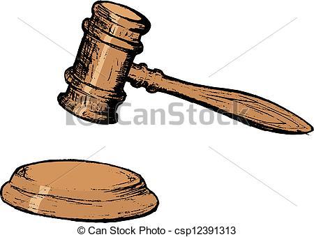 Court Judgment Clip Art.
