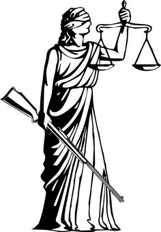 Suggest a caption for this cartoon about a blind Lady Justice.
