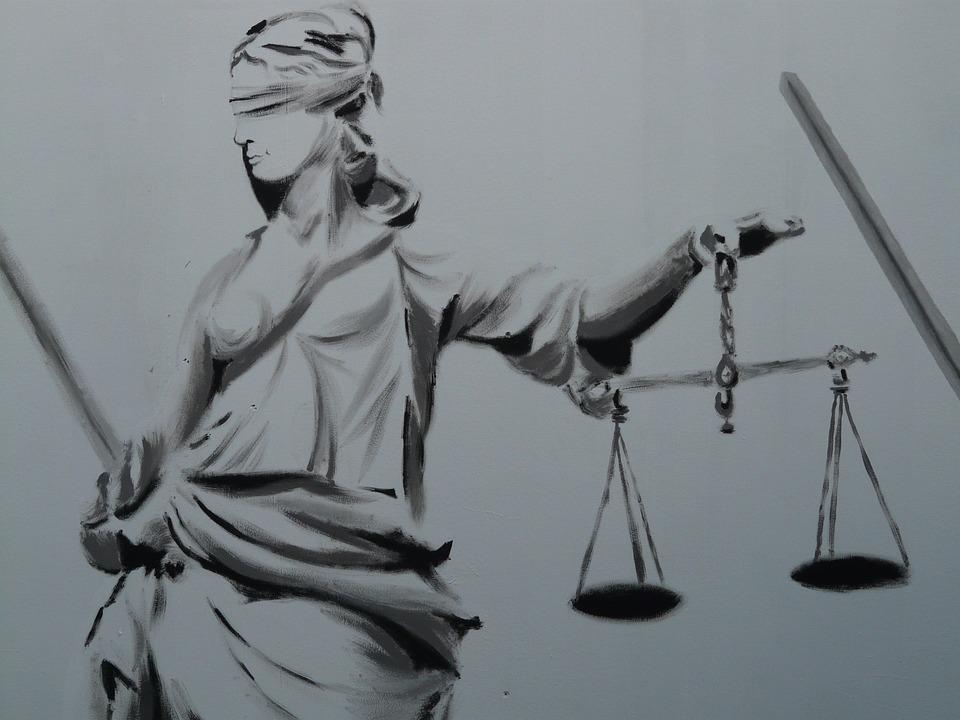 Free photo Horizontal Judgmental Justitia Justitia Justice.