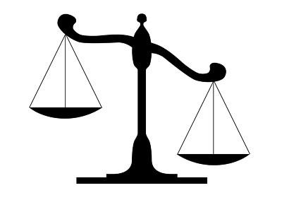 Judicial Scales Clipart.