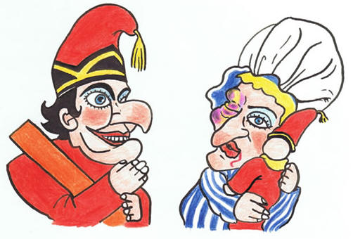 Punch and judy clipart.