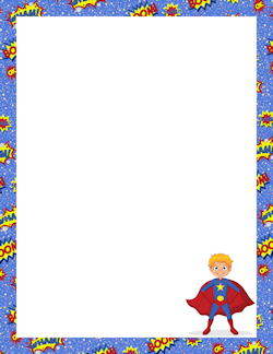 Superhero Border / Category is Fantasy Borders / pageborders.