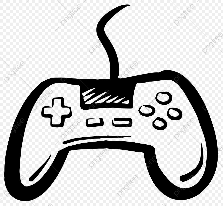 Consola De Juegos, Controlador, Black, Pintado A Mano Imagen PNG.