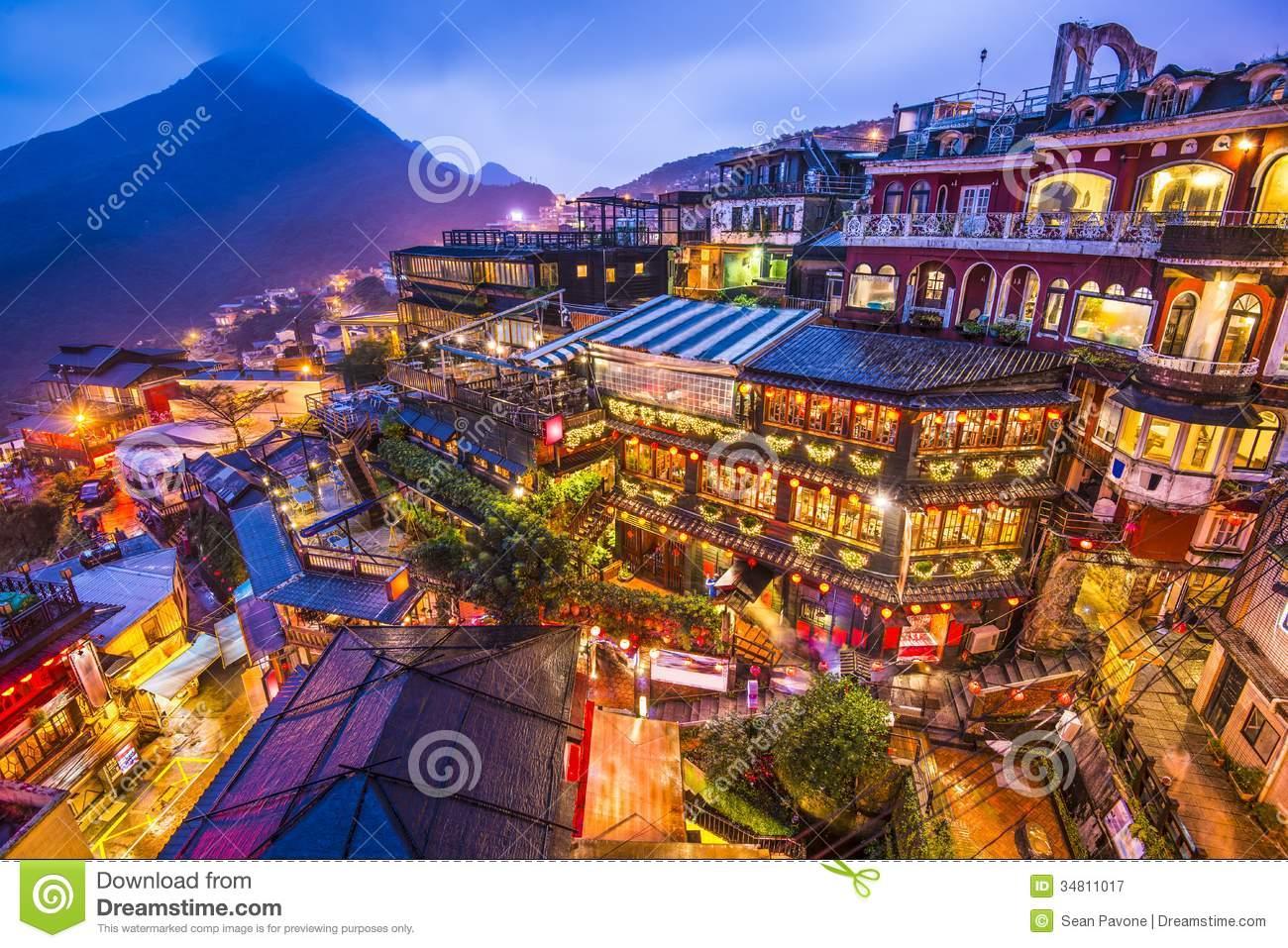 Jiufen, Taiwan Royalty Free Stock Photography.