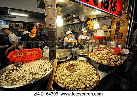 Stock Images of Food shop and restaurant in the main street.