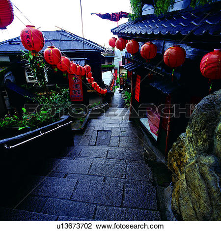 Stock Photo of Chinese, Taipei, Jiufen, landscape, scenery.