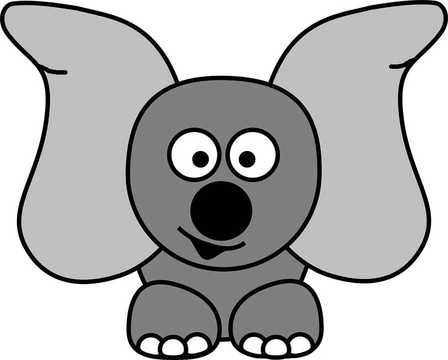 Free vector graphic: Jug Ears, Elephant, Dumbo, Ears.