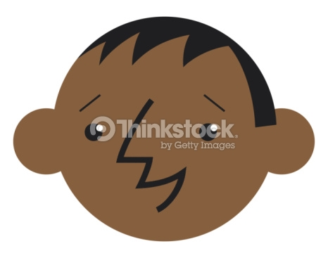 Digital Cartoon Of Smiling Boy With Jug Ears Stock Illustration.