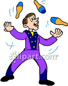 Free clipart student juggle.