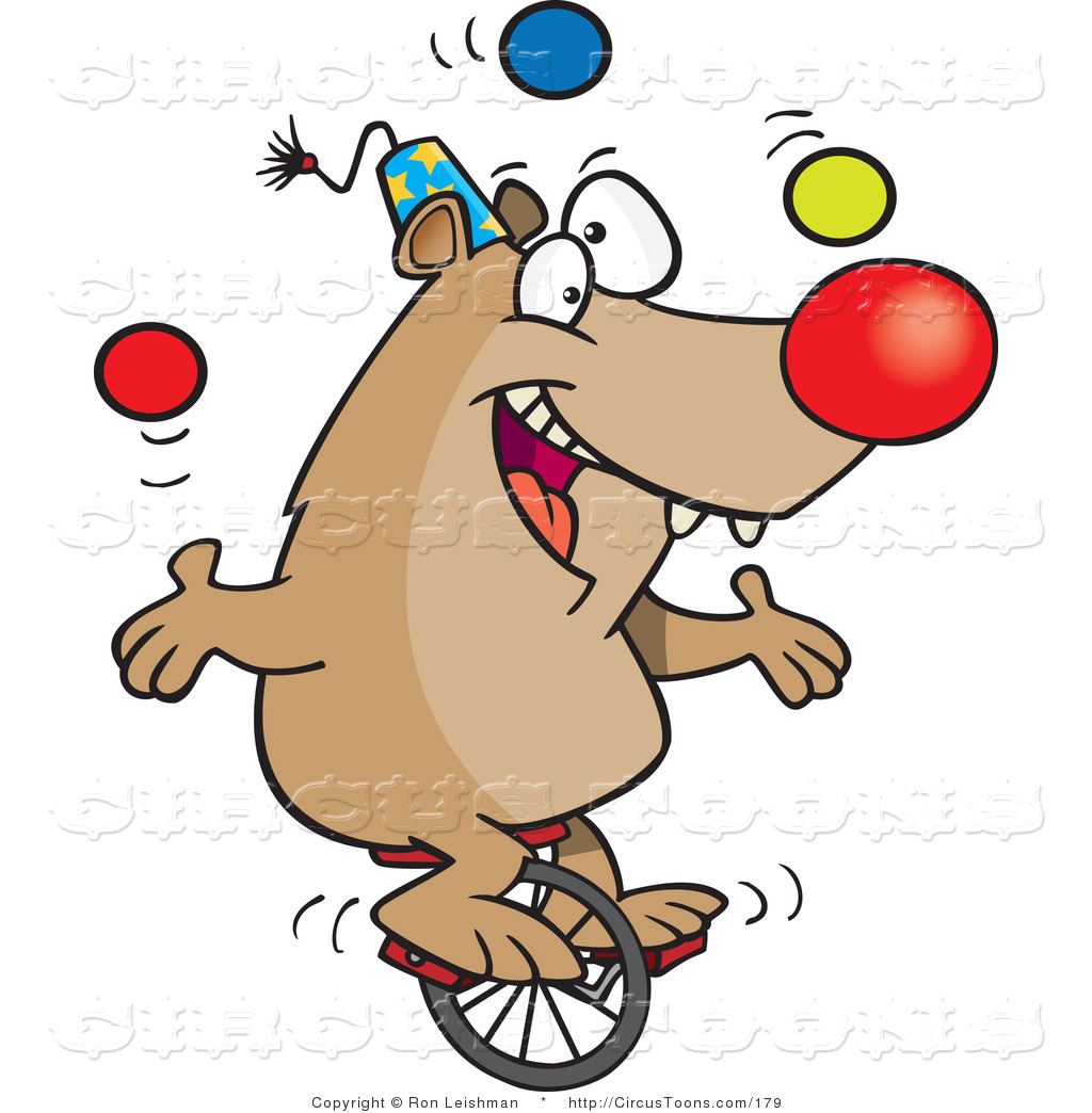 Circus Lion Juggling Clipart.