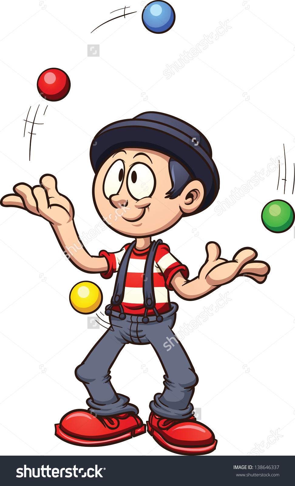 Juggler clip art.