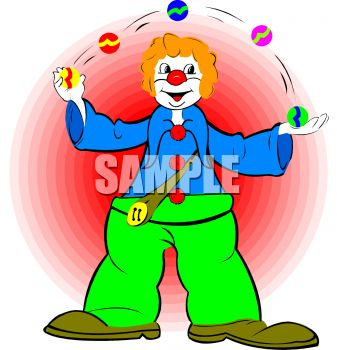 Clown Juggling Balls.