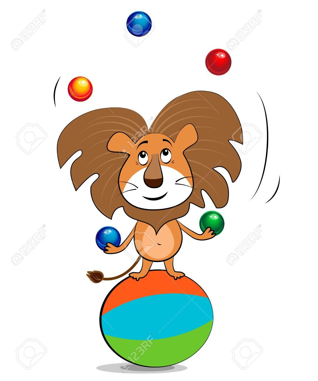 Lion Juggling Balls Royalty Free Cliparts, Vectors, And Stock.
