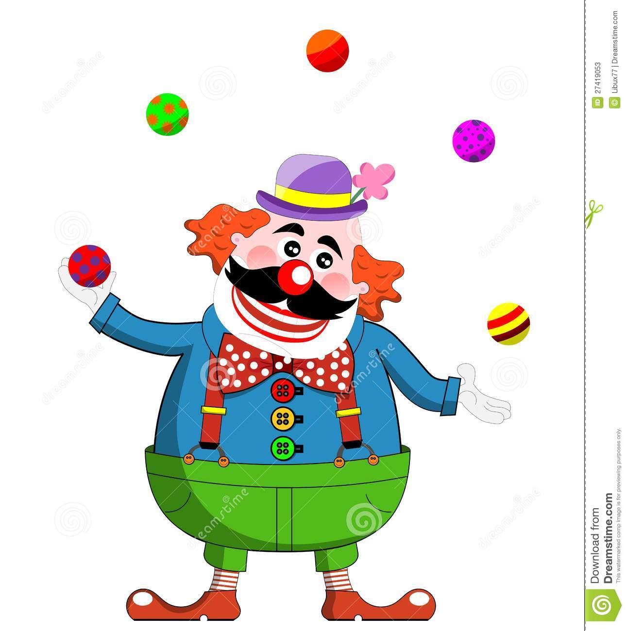 Juggling Clown Cartoon.