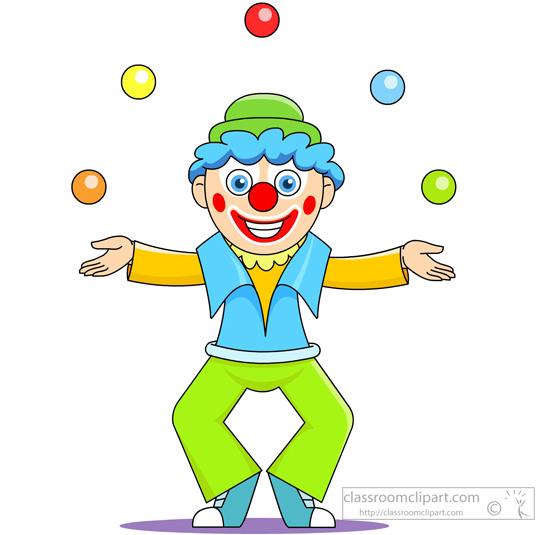 Clown Juggling Clipart.