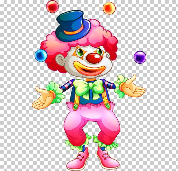 Clown Toy balloon Juggling, clown PNG clipart.