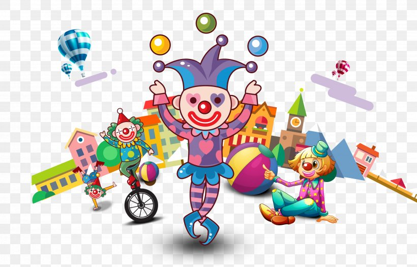 Circus Juggling Clown Performance, PNG, 3496x2242px.