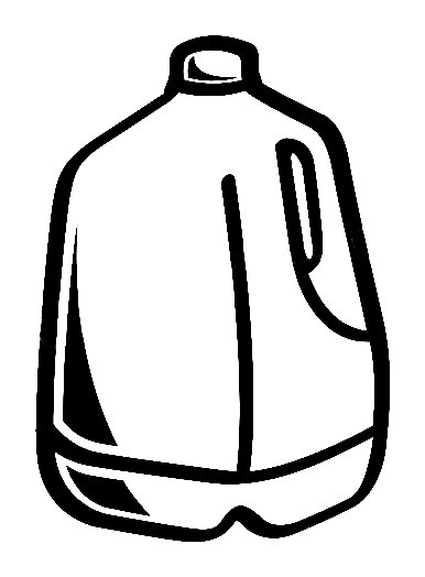 Clip Art Empty Gallon Milk Jugs Clipart.