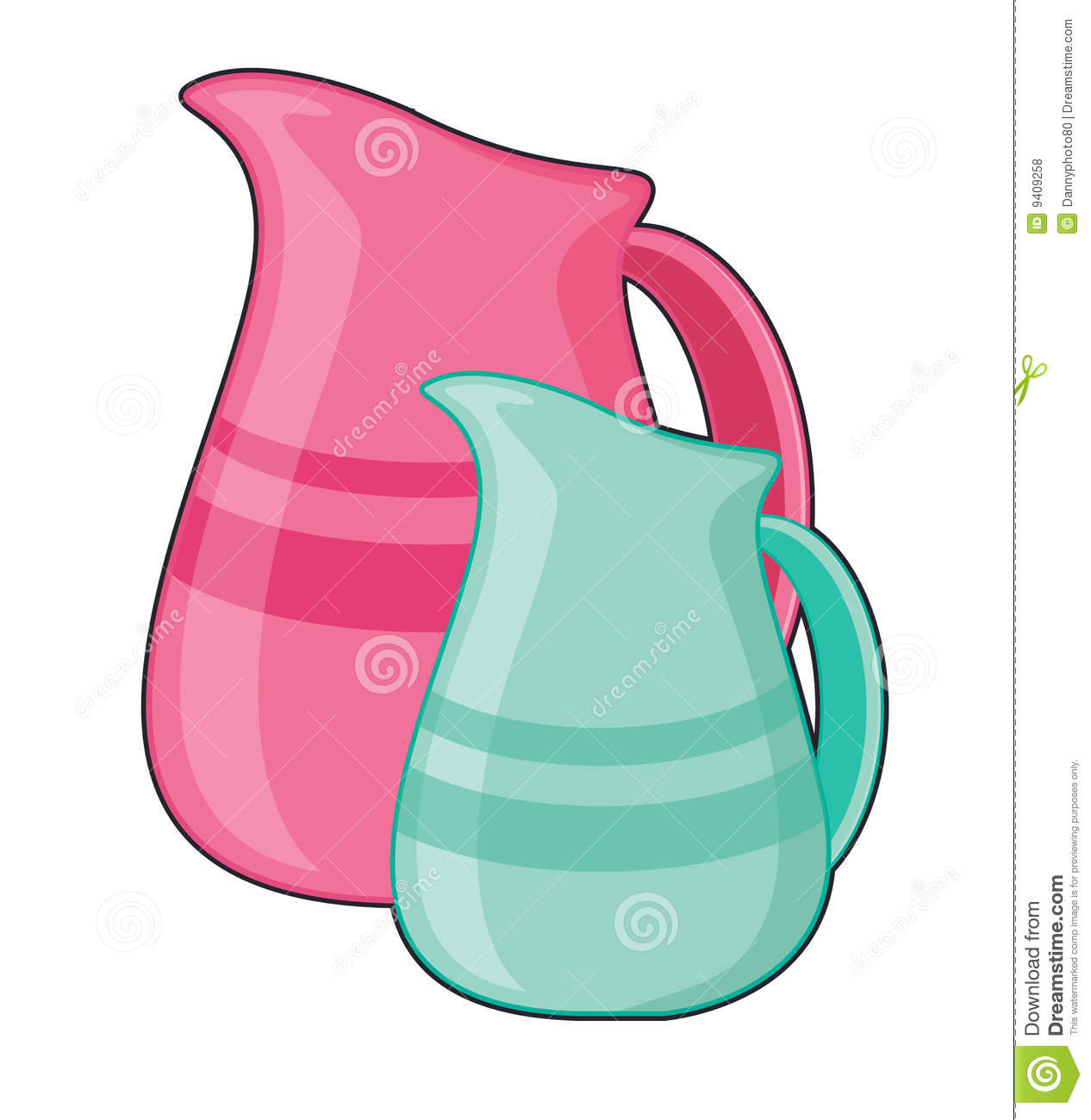 Jugs Stock Illustrations.
