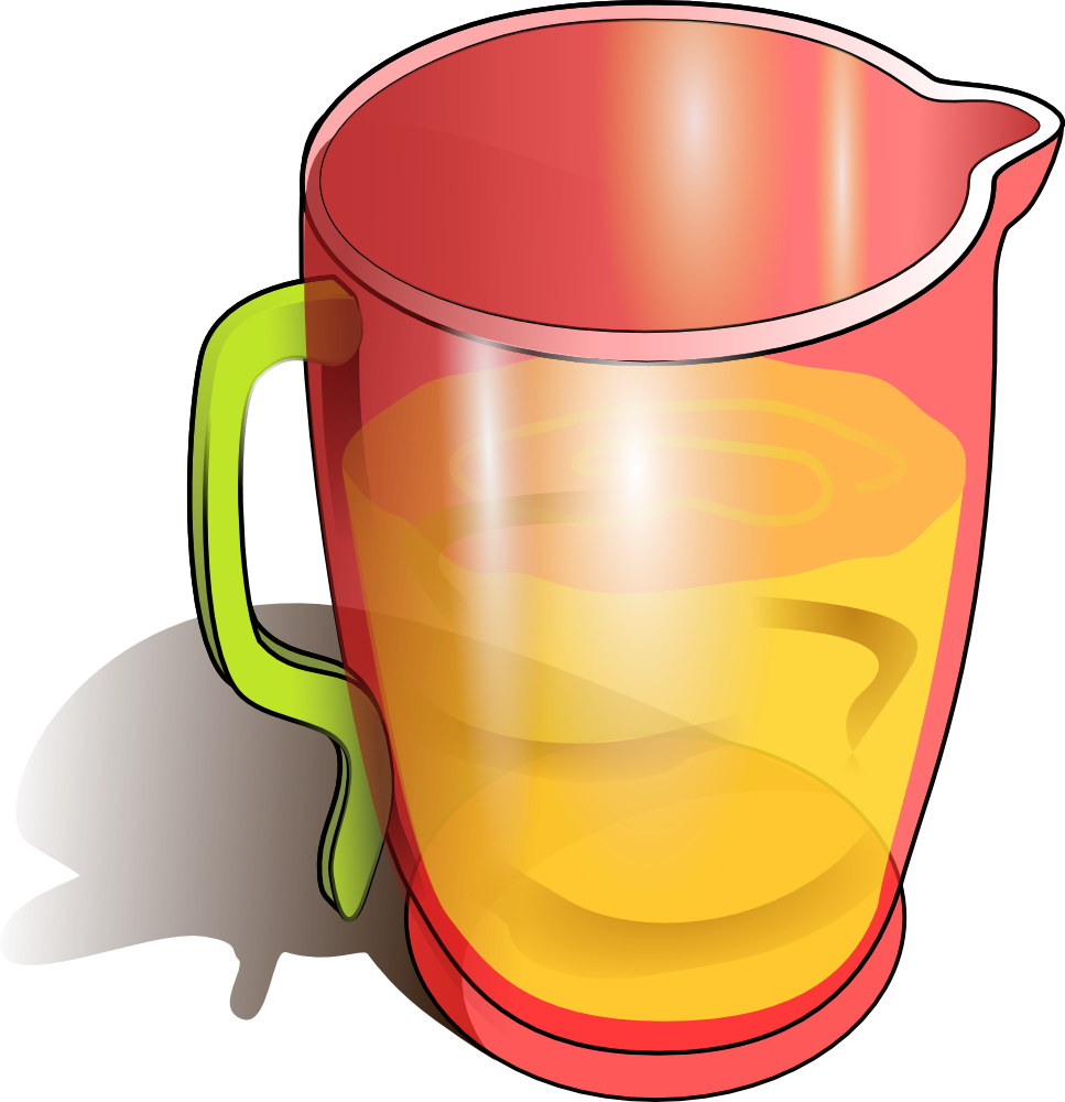 Jug With Water With Different Levels Clipart.