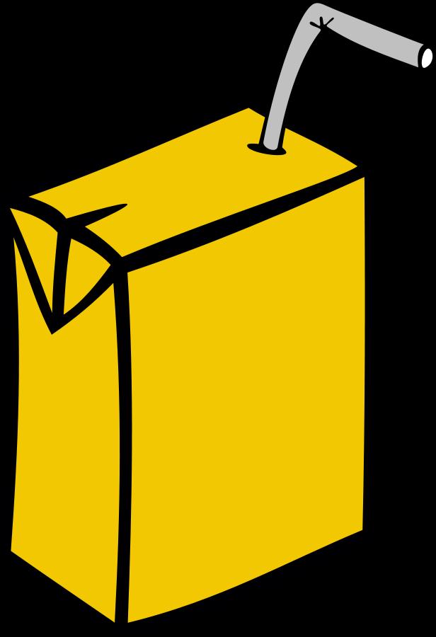 HD Cartoon Juice Box.