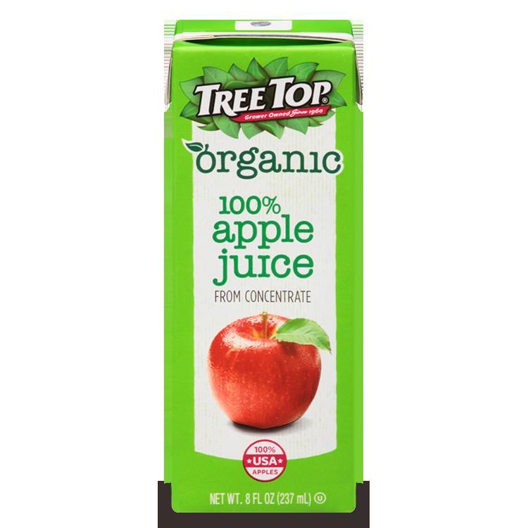 Organic Apple Juice Box.