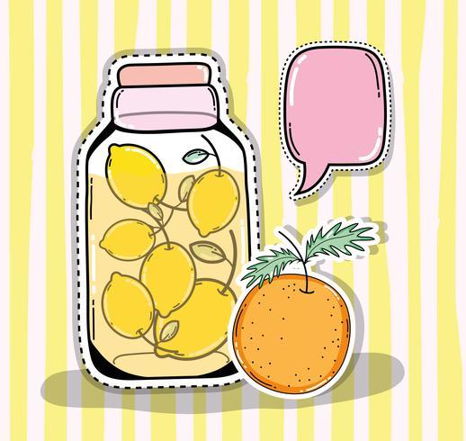 Detox juice in mason jar.
