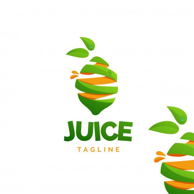 Lemon juice logo Vector.