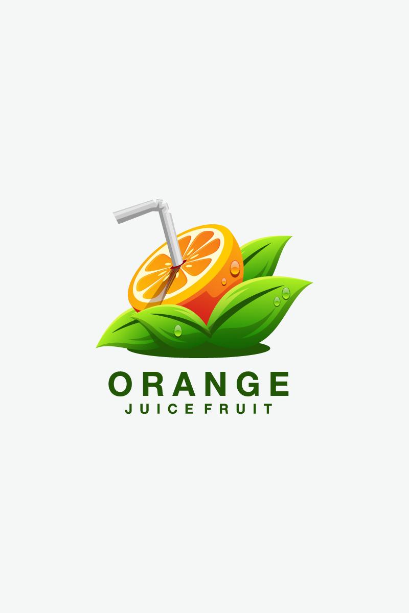 Orange Juice Logo Template.