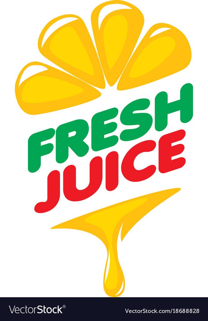 Logo of fresh juice.