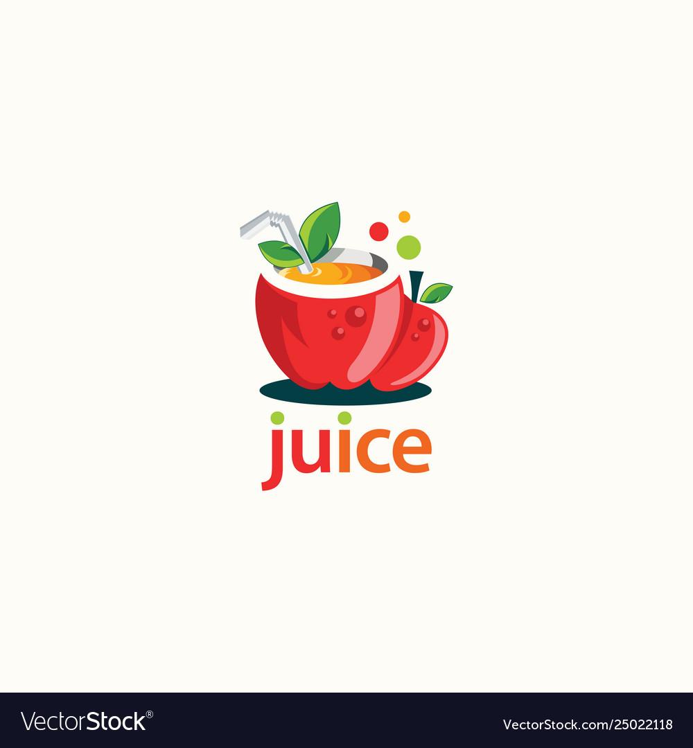 Fruit juice logo design fresh drink logo template.