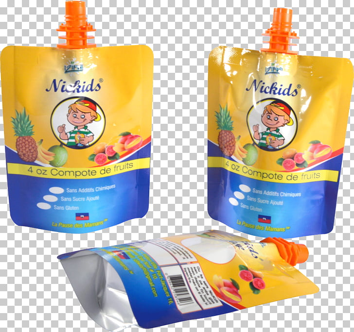 Plastic bag Packaging and labeling Aluminium foil, puree PNG.